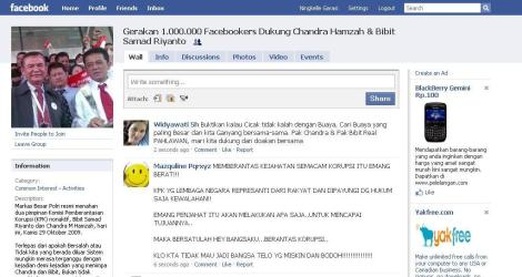 Gerakan 1.000.000 Facebookers Dukung Chandra Hamzah & Bibit Samad Riyanto